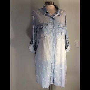 Buddy Basics chambray button down dress. Cute!